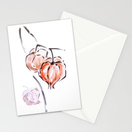 Physalis autumn harvest festival sumie ink painting Stationery Cards