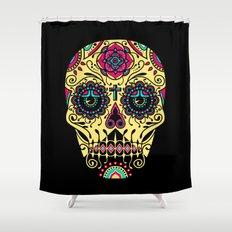 Deco Sugar Skull 3 Shower Curtain