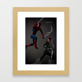Web Kickin' Ass Time Framed Art Print