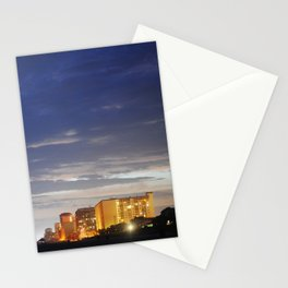 night time beach Stationery Cards