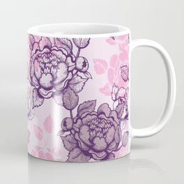 Peony pattern in pink and violet Coffee Mug