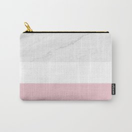 Marble And Dusty Pink Carry-All Pouch