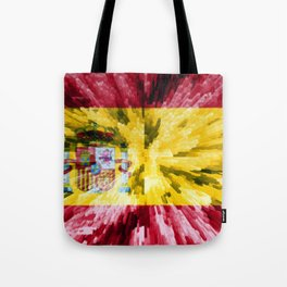 Extruded Flag of Spain Tote Bag