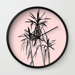 Palm Trees - Blush Cali Summer Vibes #1 #decor #art #society6 Wall Clock