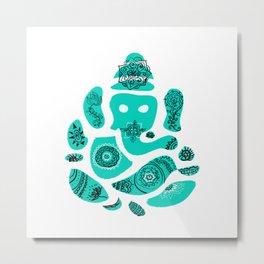 Ganesha Drawing with Mandala Elements Metal Print