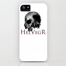 Helvegr Skull iPhone Case