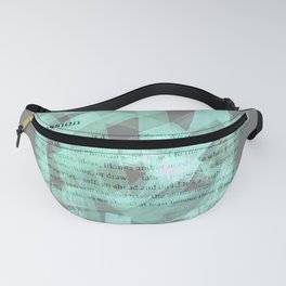 brush type green Fanny Pack