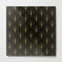 At The Piano Bar... Art Deco Gold Pattern Metal Print