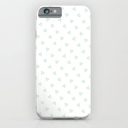 Pastel Green Seamless Triangles Pattern iPhone Case