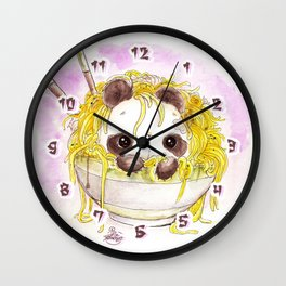 """ZUTTO SOBA NI IRU YO"" Always by your side? Or Always in your Buckwheat Noodles...? Wall Clock"