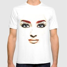 Don'T Cry Today! White MEDIUM Mens Fitted Tee