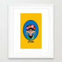 frida Framed Art Prints featuring Frida by Juliana Motzko