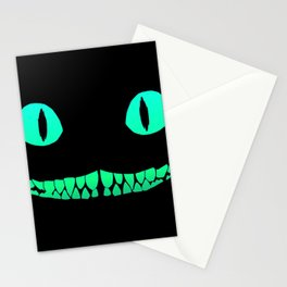 Cheshire black smile Stationery Cards