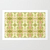 Symmetry tiles Art Print