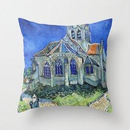The Church at Auvers Vincent Van Gogh Throw Pillow
