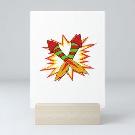 Awesome Expert Tshirt Design Fireworks expert Mini Art Print
