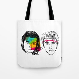 Daft Punk portrait Tote Bag