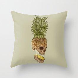 Pineapple Skull Throw Pillow
