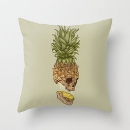 Pineapple Skull Throw Pillow