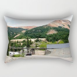 1880's Gold Rush - The Idarado Mine and Red Mountains Rectangular Pillow