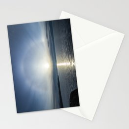Halo over ice of lake Baikal Stationery Cards
