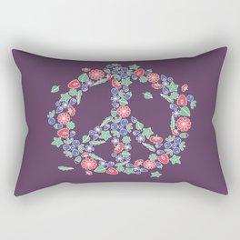 Peace. Floral wreath Rectangular Pillow