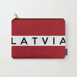 latvia country flag name text Carry-All Pouch