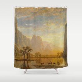 VALLEY OF THE YOSEMITE - ALBERT BIERSTADT Shower Curtain