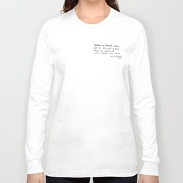 The Quote and the Photograph Long Sleeve T-shirt