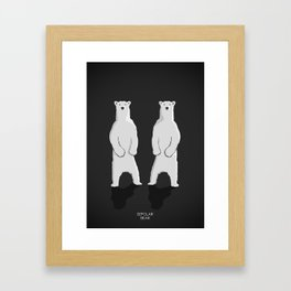 BIPOLAR BEAR Framed Art Print
