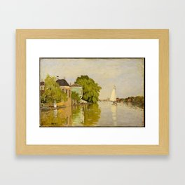 Claude Monet - Houses on the Achterzaan (1871) Framed Art Print