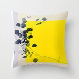 grayellow_mood Throw Pillow