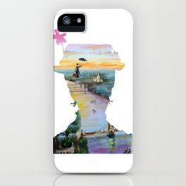 Mary Poppins flying above London iPhone Case