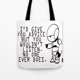 Marvin The Hitchhiker's Guide to the Galaxy Tote Bag