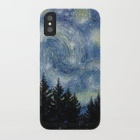 starry night iPhone & iPod Cases featuring Starry Night by Astrablink7