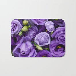 Beautiful purple roses background Bath Mat