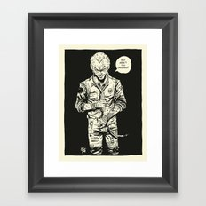 HANG IN THERE - no color Framed Art Print