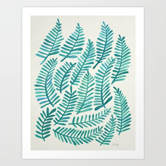 Green Fronds Art Print