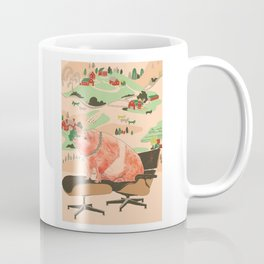 Farm Animals in Chairs #3 Pig Coffee Mug