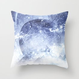 Even mountains get cold Throw Pillow