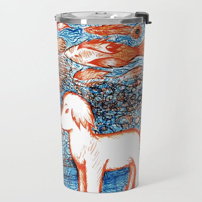 Suki by the Koi Pond Travel Mug