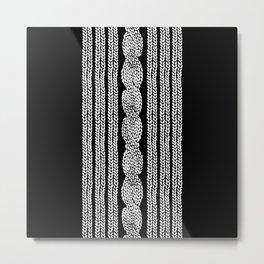 Cable Stripe Black Metal Print