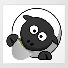 Cartoon Cute Sheep Art Print