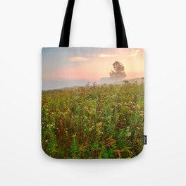 Misty Canaan Valley Sunrise Tote Bag