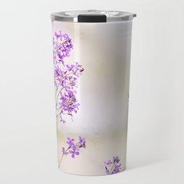 Purple Nature Photography, Lavender Floral Botanical Photography, Light Purple Nature Art Travel Mug