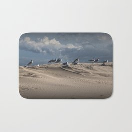 Waiting Gulls on Top of A Sand Dune Bath Mat