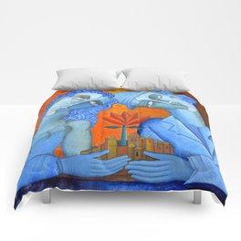 Blue Lovers Comforters