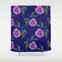 Peony Floral Floating Pattern Shower Curtain