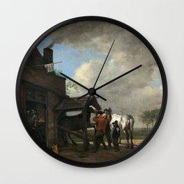 Paulus Potter A Farrier's Shop Wall Clock