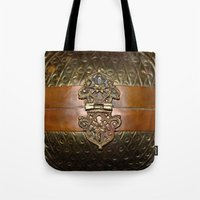 sansa stark Tote Bags featuring Sansa by The Brass Clasp